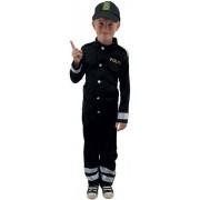Politimand 128 cm. (Politi Fastelavnstøj Udklædning)
