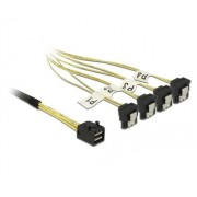 Mini SAS HD SFF-8643 > 4x SATA 7 tűs 1m