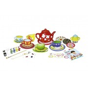 Jenil International Big Paint Your Own Ceramic Tea Set For Creative kids