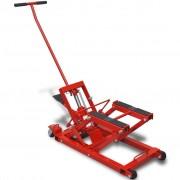 vidaXL Hydraulický zvedák na motorku / čtyřkolku, 680 kg, červený