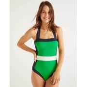 Boden Kleeblattgrün, Blockfarben Santorini Badeanzug Damen Boden, 44 L, Green
