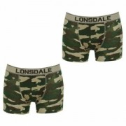 Lonsdale Trunk kalsonger kamouflage 2-pack