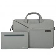 CARTINOE TuYue Series 16-inch Large Capacity Laptop Bag with Small Bag - Grey