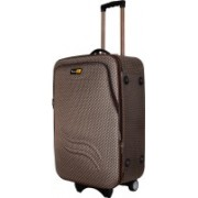 Skyline Expandable Polyester Check-In Soft Case Trolley Bag/Suitcase With Number Lock,2 Wheels Expandable Check-in Luggage - 26 inch(Brown)
