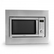 Klarstein Steelwave, 23 л, 800 W микровълнова печка, 1000 W грил, неръждаема стомана, за вграждане (TK49-Steelwave-Line-)