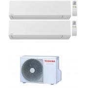 Toshiba Shorai Edge Wifi R32 Condizionatore Dual Split Inverter 9000+9000 9+9 Btu Ras-2m14u2avg-E A++