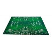 Tappeto di Natale verde BUONE FESTE passatoia 100x142 cm. VE1