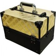 Pride Desire to store cosmetics Vanity Box (Golden)