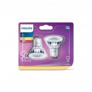 Philips LED Lamp Spot 4,6W (50W) GU10, set van 2