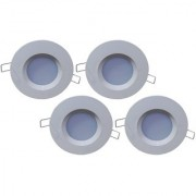 Bene LED 3w PP Round Ceiling Light Color of LED Green (Pack of 4 Pcs)