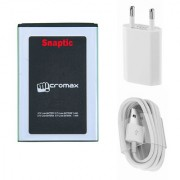 Snaptic Li Ion Polymer Replacement Battery for Micromax Bolt A089 with USB Travel Charger