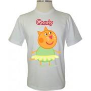 Camiseta Peppa Pig Candy a Gata - Coleção Peppa Pig