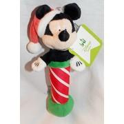 "Disney Baby 7"" Plush Christmas Mickey Mouse Rattle"