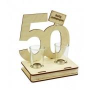 Pálinkás pohár szett 50.Születésnapi ajándék 2db 2cl - Tréfás Pálinkás szett