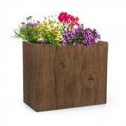 Timberflor Vaso de plantas 60 x 50 x 30 cm Fibra de vidro interna/externa marrom