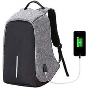 REDSTAR Anti Theft Backpack Waterproof Laptop Bag with USB Charging Port for 15 Laptop Camera and Mobile(Grey Colour)