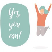 yes you can |Motivational Poster|Inspirational Poster|Gym Poster|All Time Posters|Poster About Life|Poster for Every Room Office Gym