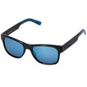 Lacoste L829s anteojos de sol rectangulares, Negro/Azul, 54 mm