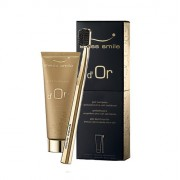 Swiss Smile d´Or Gold Toothpaste Kit, 75ml Gold Toothpaste + 1pc Ultra Soft Toothbrush Gold Plated