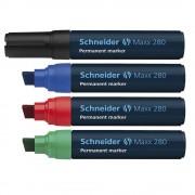 Marker permanent Schneider Maxx 280, varf tesit 4-12mm verde