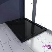 vidaXL Pravokutni ABS pod za tuširanje crni 70 x 100 cm