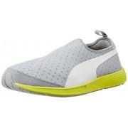Puma Unisex FTR TF-Racer Slip-on Quarry and White Mesh Running Shoes - 11 UK