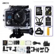 Cámara de Acción Ultra HD 4K WIFI de 1080 P/30fps 2,0 LCD 170 lente de buceo resistente al agua 30M DV ir cámara de casco pro Cámara de los deportes(#Blanco)(#option 7)