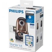 Philips PerformerPro Начален комплект 4 x торбички за прах (s-bag® ULP), 1 x HEPA13 филтър, 1 x трислоен филтър за мотор