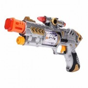 Nawani Battery Operated Laser Sound Gun Laser Pointer Gun Music with Flashing Lights for Kids