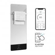 Klarstein Hot Spot Crystal Reflect Smart, инфрачервен нагревател, 850 W, приложение, таймер, огледало (HTR2-HtSptCrystRflSm)