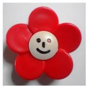 Butoni Mobila Floare Rosie