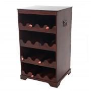 Weinregal Calvados T252, Flaschenregal Regal Holzregal, für 16 Flaschen Kolonialstil 66x38x34 cm ~ Variantenangebot
