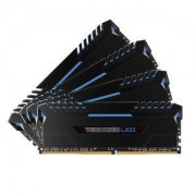 Memoire RAM Corsair Vengeance LED Series 32 Go (4x 8 Go) DDR4 3000 MHz CL15 - Bleu - Kit Dual Channel 2 barrettes de RAM DDR4 PC4-24000 - CMU32GX4M4C3000C15B