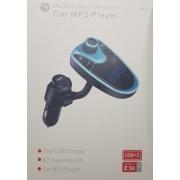 M2 szivargyújtós Bluetooth FM transmitter mp3 lejátszó