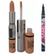 ADS Foundation And Concealer with Sketch Pen Eyeliner (Set of 2)