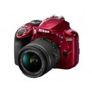 Nikon Cámara Réflex Nikon D3400 + AF-P 18-55mm VR Roja