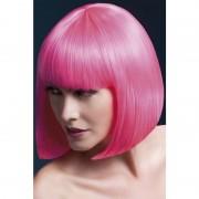 Smiffys Luxe roze korte pruik Elise voor dames