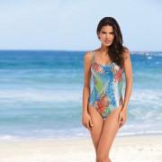 Schwab Bademoden SunSelect®-Badeanzug, 38 - Blau/Grün/Koralle