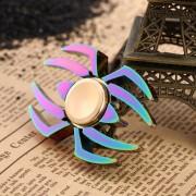 ER Rainbow Spider Mano Dedo Metal Juguete Spinner Spinner Aliviar El Estrés Desk Juguetes