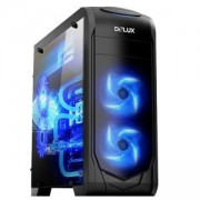 Компютърна кутия Delux DW702, черен, DW702/WO_PSU/BLACK