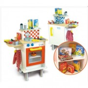 Vilac Double Sided Large Kids Kitchen with Accessories
