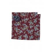 Original Penguin Deline Floral Pocket Square Lapel Pin Set BURGUNDY