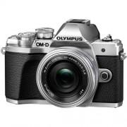 Olympus OM-D E-M10 MARK III + 14-42mm F/3.5-5.6 ED EZ - ARGENTO - 2 Anni Di Garanzia