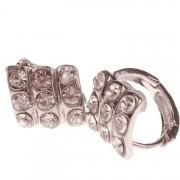 Dames oorbellen zilver met strass