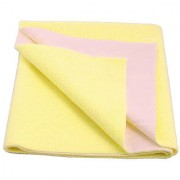 Glassiano Waterproof Baby Bed Protector Dry Sheet (140x220 CM) Single Bed Size Yellow