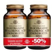 Solgar Glucosamine Hyaluronic Acid Chondroitin MSM 60tablete PACHET 1+1-50%