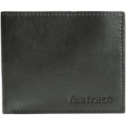 Fastrack Men Formal Black Genuine Leather Wallet(2 Card Slots)