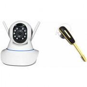 Zemini Wifi CCTV Camera and HM 1000 Bluetooth Headset for LG OPTIMUS G PRO(Wifi CCTV Camera with night vision  HM 1000 Bluetooth Headset With Mic )