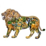 Lions Roar - A 1000 Piece Shaped Jigsaw Puzzle by SunsOut