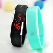 New-Fashion-Touch-Screen-LED-Bracelet-Digital-Watches-For-Men-Ladies-Child black and skyblue